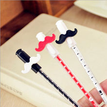 2014 wholesale black best gel pen promotional gel pen Transparent rod 0.38 black beard gel pen