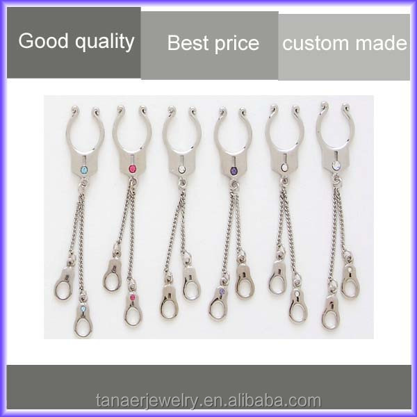 Stainless steel types wholesale fake nipple ring