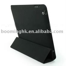BLACK LEATHER SMART SLIM CASE COVER FOR APPLE IPAD 2 3G