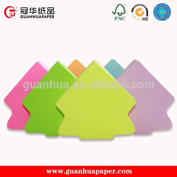 wholesale custom fancy decorative promotional tree shaped sticky notes for office