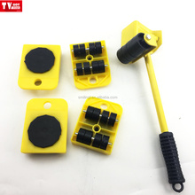 5 Pcs portable Furniture move tool Heavy duty moving Mover Transport Set Shifting Wheel Trolley