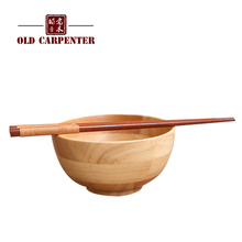 Vietnam imported rubber wooden bowls Japanese - style bowl of adult children anti - hot bowl