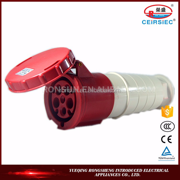 Waterproof Industrial 3P+N+E electrical plastic connector