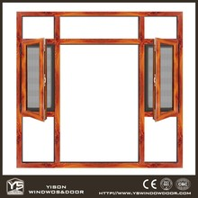 Window Manufacturer Glass Aluminum Window with Mosquito Screen