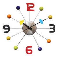 Colorful Rolling Ball Clock Metal Decorative Wall Clock for Home Decor / Promotional Gift