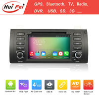 Huifei Quad Core A9 Android 4.4 Capacitive Screen 1024*600 Obd Dvr Mirror Link Special Car Dvd Player For Bmw X5 E53 Gps Car Dvd