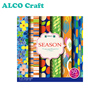6x6inch custom Summer design printing sheet scrapbook origami paper