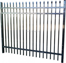 High security prefab fence panels steel galvanized/powder coated steel picket fence