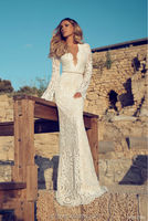 New Arrival Lace Mermaid Floor Length Long Sleeve latest Wedding Gown Designs