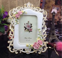 home ornament beautiful flower decorative latest resin photo frame