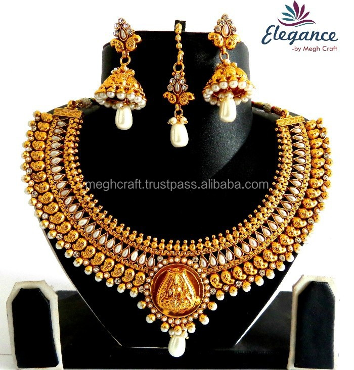 South Indian one gram jewellery-Lakshmi coin jewellery-wholesale Indian ethnic jewelry-Wholesale Indian Traditional Jewellery