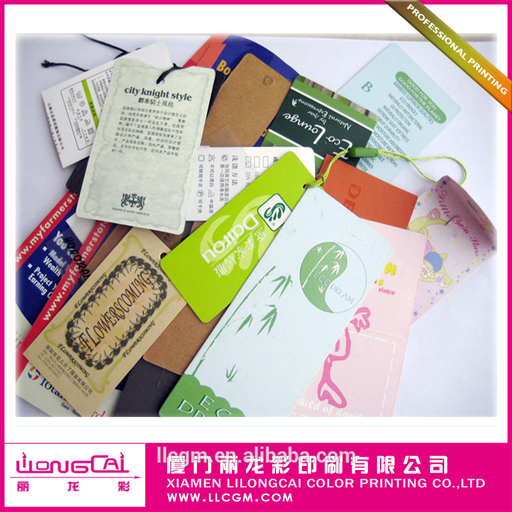 Hangtags for clothing with high quality China manufactory