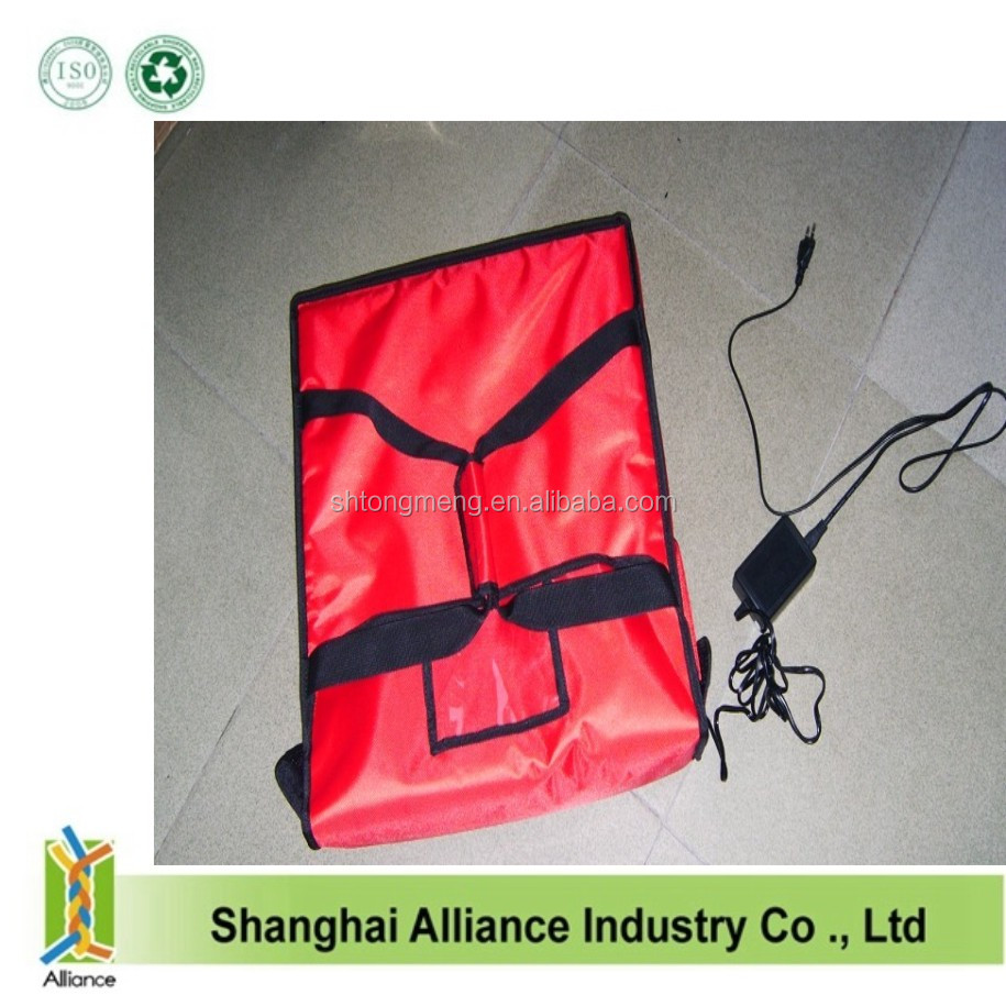 2016 High quality 600D pizza delivery bag with heating element