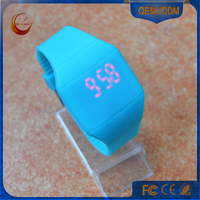 kids watch rainbow led watch, square led watch