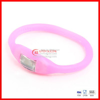Promotional high grade silicone wrist band sport bracelet watch pedometer