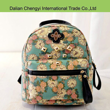 2015 fashion cartoon vintage patterned PU backpack