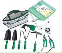 9 pcs plastic multi-task kids garden tool kit for weeding