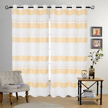 Hot selling yellow 63 96 inches sheer elegance grommet window curtain panels