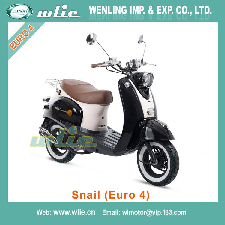 Best selling 49cc mini vespa gas scoot... gy6 engine for sale gasoline Euro 4 EEC COC Scooter Snail 50cc (Euro4)