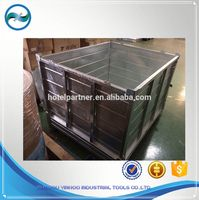 galvanized OEM high-capacity stackable steel crate