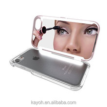 [kayoh]2016 New Make Up Mirror Cell Phone Case For iphone 7 7plus,tpu+pu phone covers with card slot