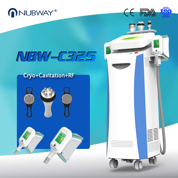 CE / FDA approved painless safety comfortable treatment 5 cryo handles shaper body slimming vibration machine