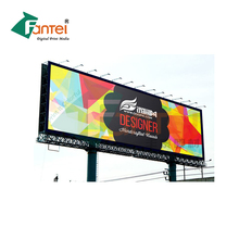 340gsm 300D*500D 18*12 Frontlit Plastic Canvas On Roll Banner