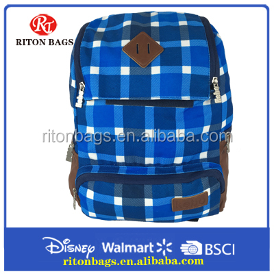 High Quality PU Leather Canvas Backpack
