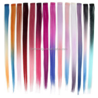 Streaks Bright Colours Ombre Ladies Clip in Synthetic Hair Extensions