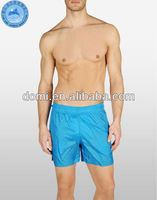 Solid blue polyester taffeta men swim boxer shorts open hot sexy hot sex modal/full size sexy photo/sexy men swimwear