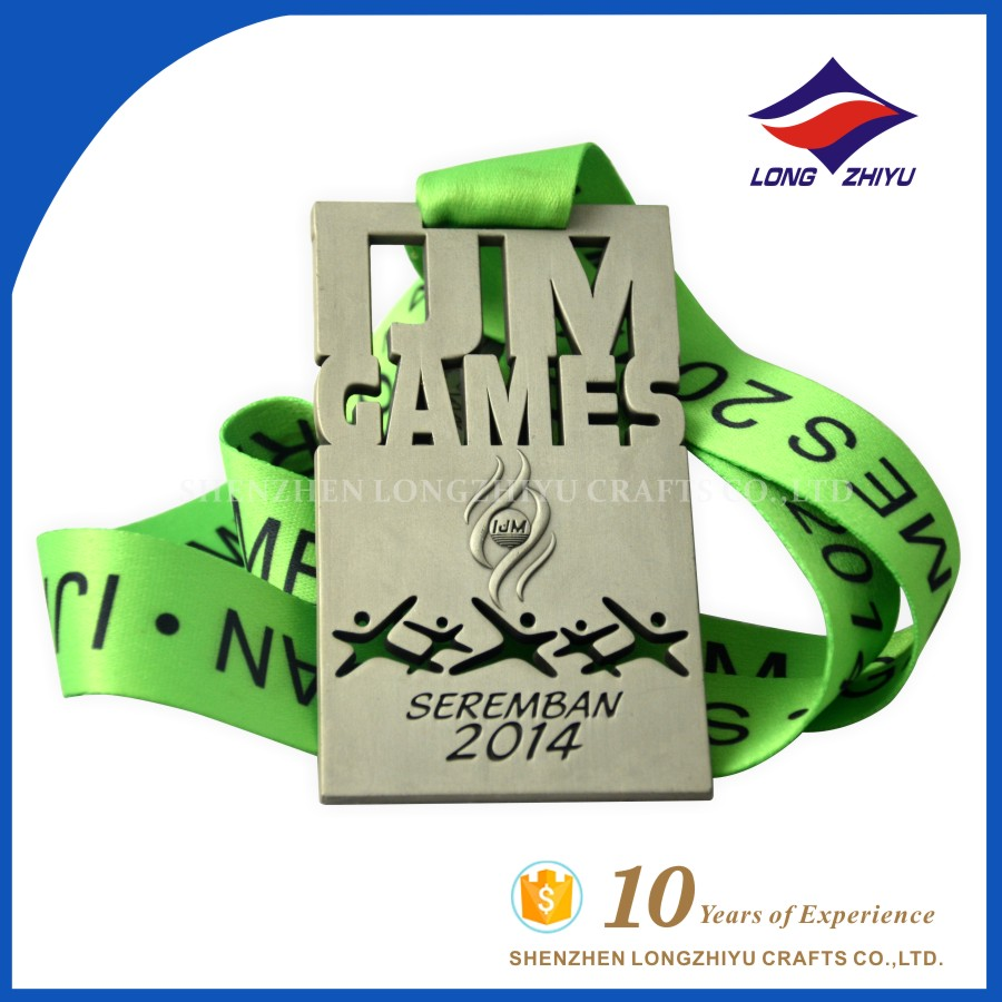 Cheap Custom Free Design Rectangle Metal Medals for Malaysia Seremban IJM Games