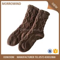 Wholesale Hosiery fashion thickening lovely Knitted Technics Anti-Slip slipper sock