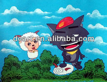 modern cartoon art oil painting