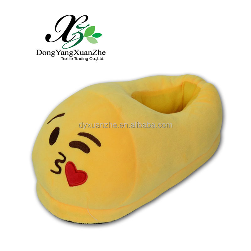 XZ-9P Dongyang XuanZhe PP Cotton Best Sale Fashion Slipper Plush Emoji Slipper For Kids Shoe