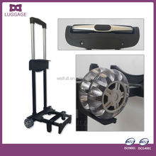 hand luggage frame with wheels telescopic trolley handle with luggage plastic foot stand , airport trolley