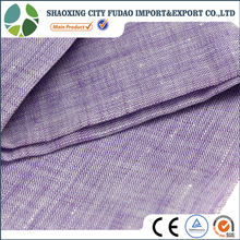 Natural fibre yarn dyed 100% Linen fabric price for shirt