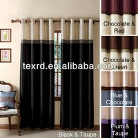 Blackout Ready Made Grommet Jacquard Curtain with Various Colors
