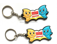 3D shaped PVC material key chain / rubber key tags