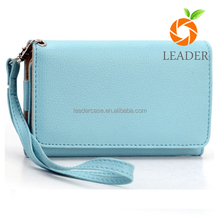 Accessories For Bags Litchi Grain Leather Clutch phone Bag Case PU Leather Phone Cases