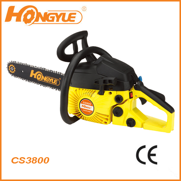 Firewood 37.8cc chainsaw machine3800 with easy starter chainsaw machine price
