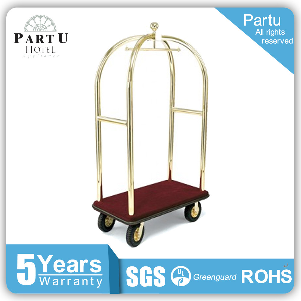 High Quality Stainless Steel Hotel Luggage Cart Bird Cage Trolleys
