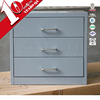 High gloss steel table 3 drawer cabinet