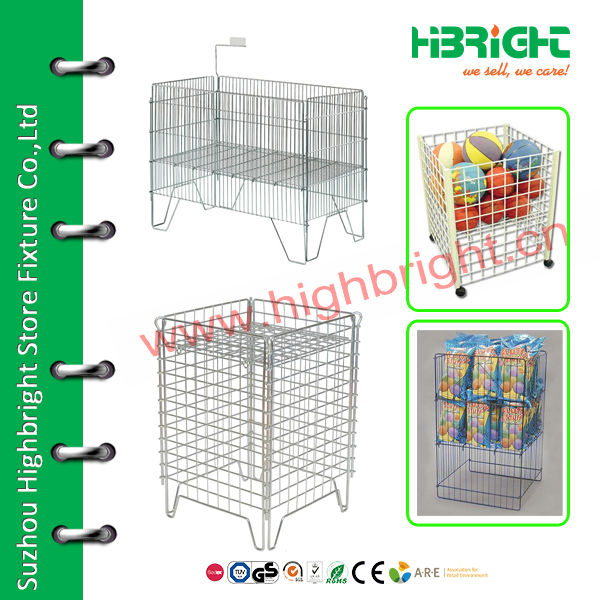 wire dump bin display for retail