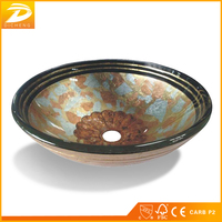 Hangzhou Factory Bathroom Vanity Sink Tempered Glass On Glass Bowl