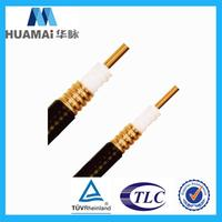 fully stocked low reflection loss thin coaxial cable
