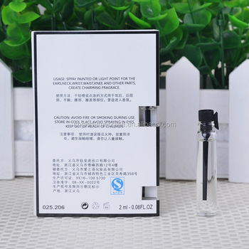MUB-2ml DIY Perfume Test Sample With Packaging Card For Female