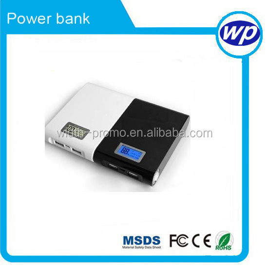 Portable External battery powerbank Charger Best LCD 18650 battery custom power bank 10000mah for Iphone