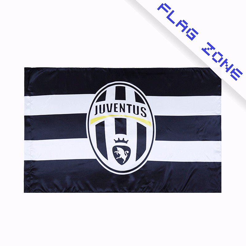 Factory cheap custom juventus team banner football fan club flag