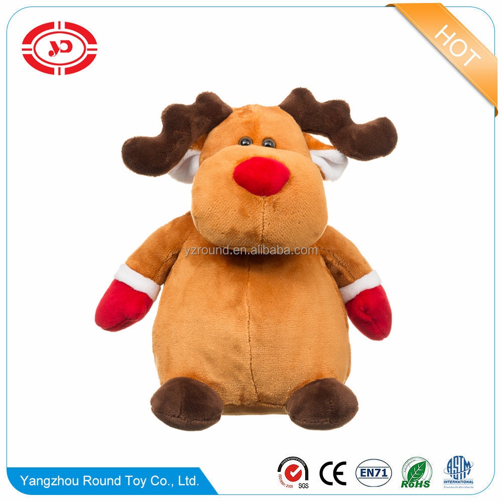 Christmas moose fat round belly stuffed plush soft toy reindeer
