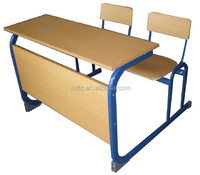Manufacture wood and plastic elegant middle school table and chairs set,attached school desks and chair